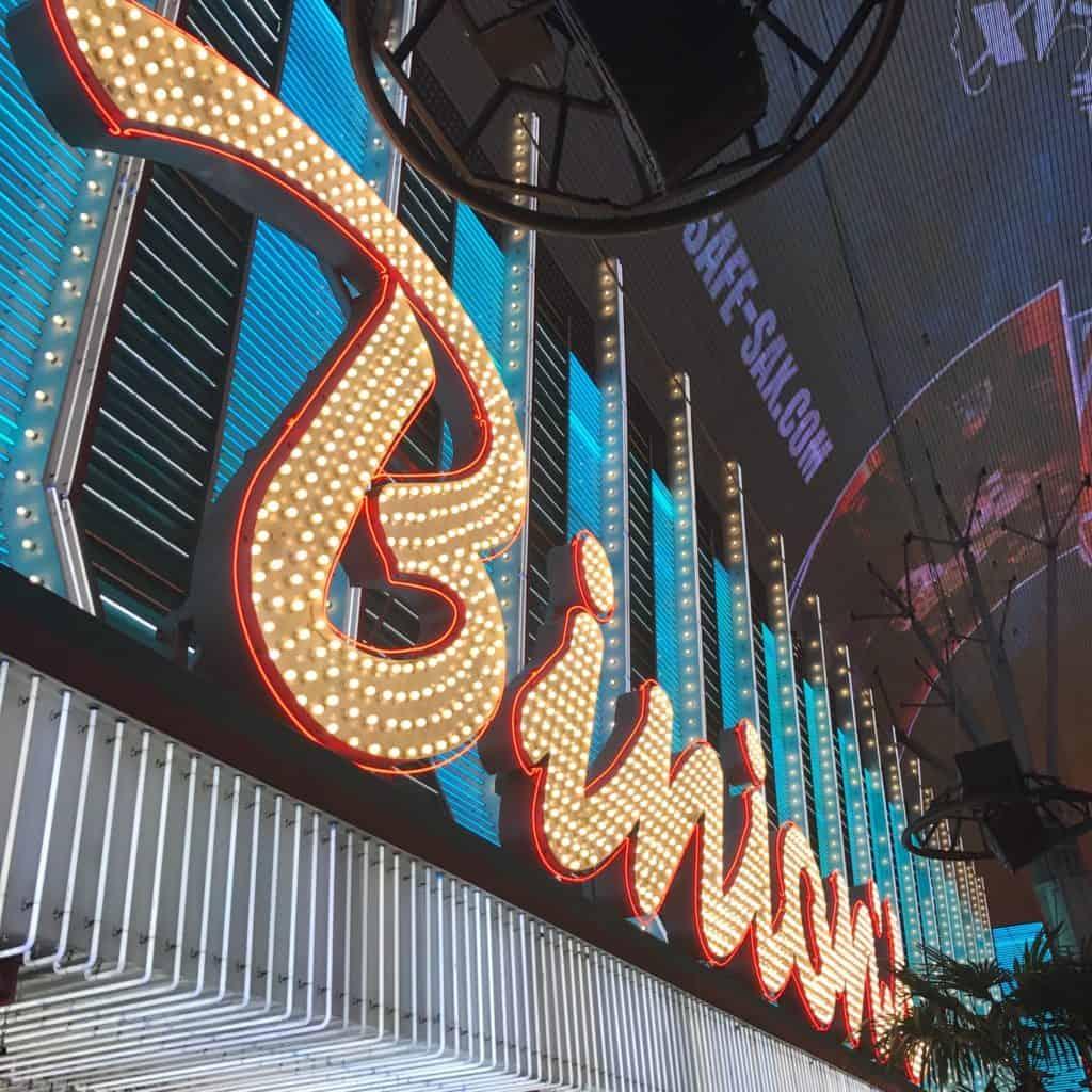Binion's sign on the exterior of their Las Vegas casino