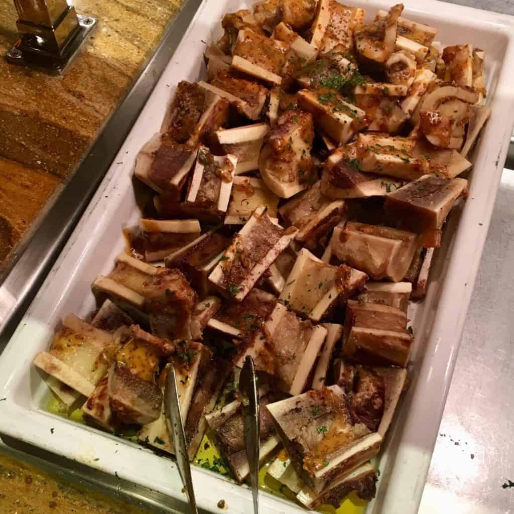 Self service tray of bone marrow