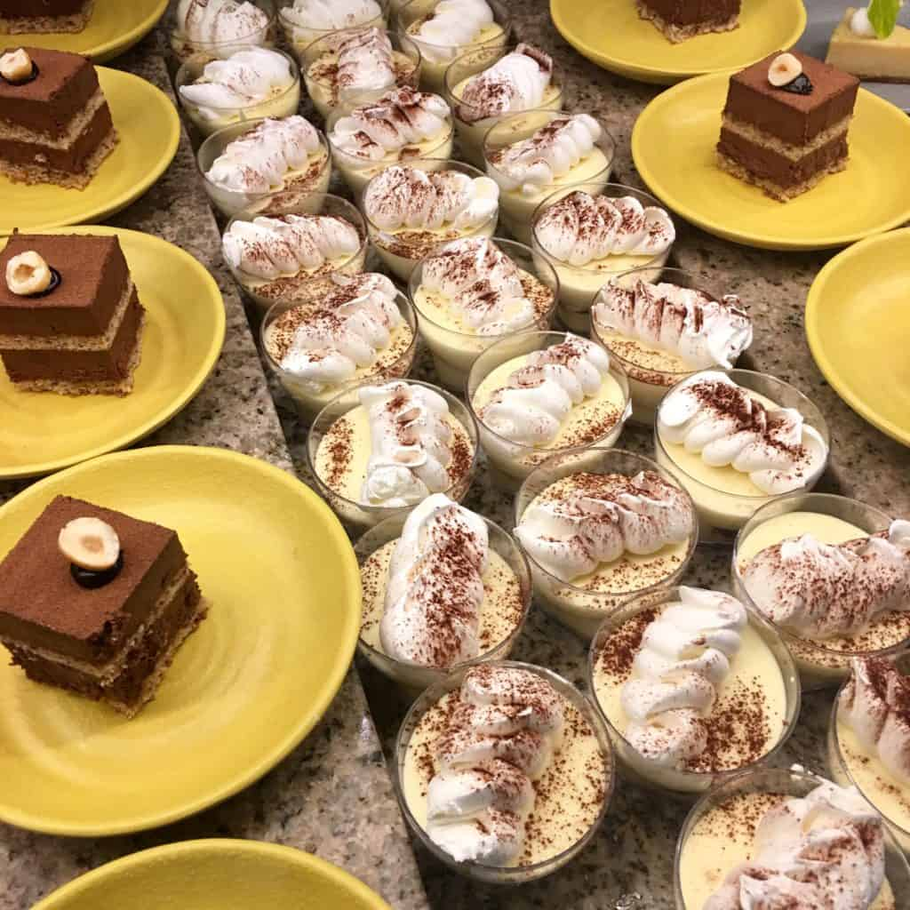 Chocolate Cake and pudding dessert options