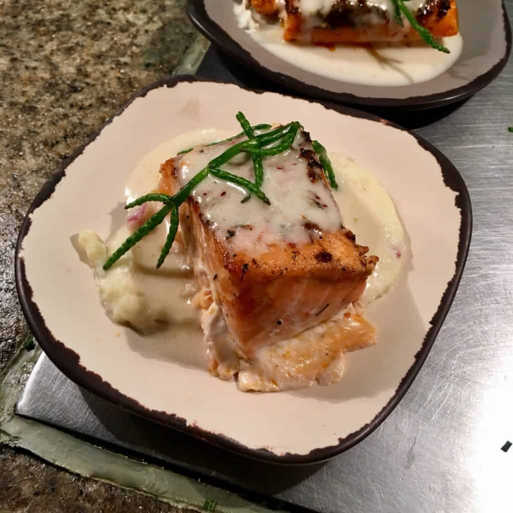 Atlantic Salmon on plate