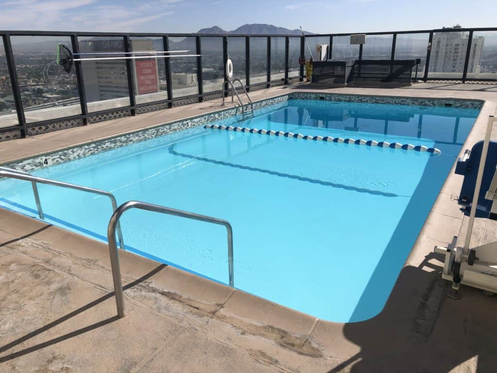Rooftop pool atop Binion's hotel tower