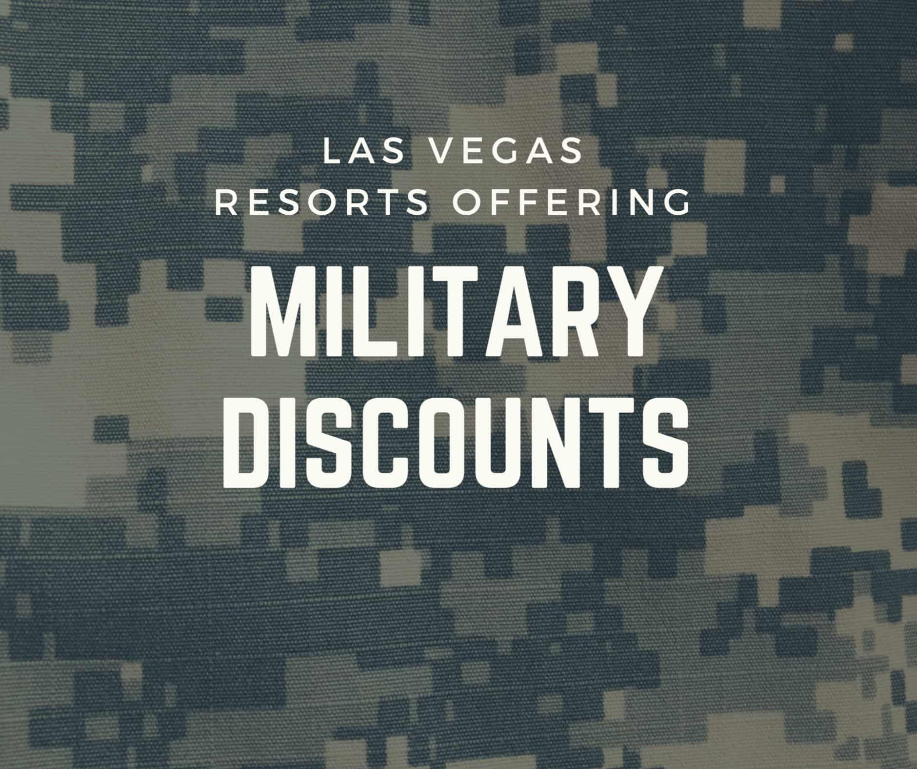 Vegas Hotels That Offer Military and Veteran Discounts