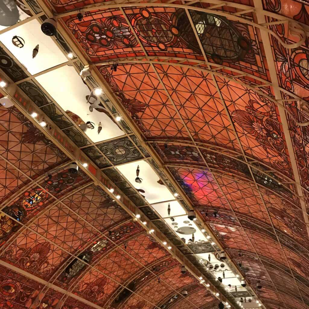 Stained Glass Cieling at Tropicana