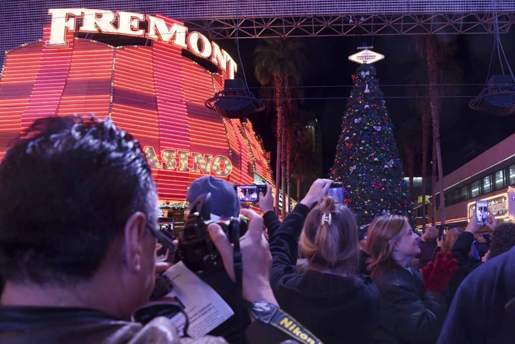 Christmas Tree lighting ceremony on Fremont Street