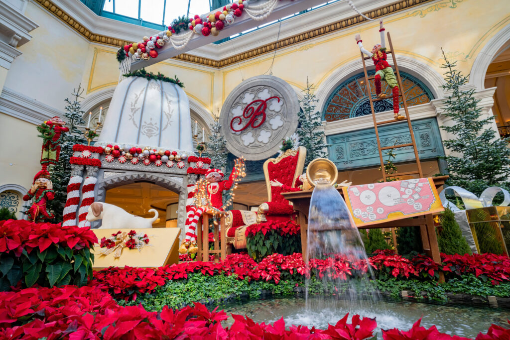 Holiday decor in Bellagio's conservatory