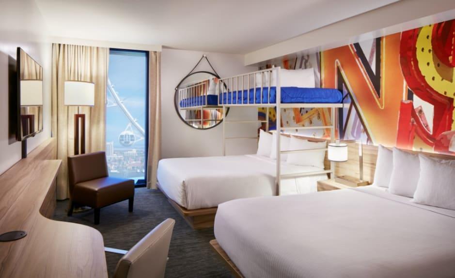 Bunk Bed room at Linq Las Vegas