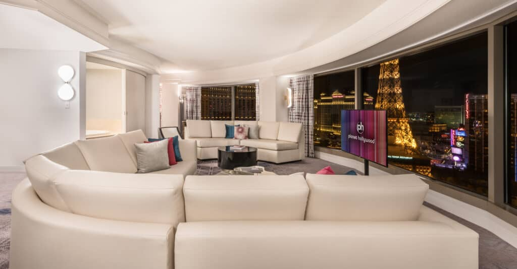 Ultra Panorama Suite Living Room at Planet Hollywood Las Vegas