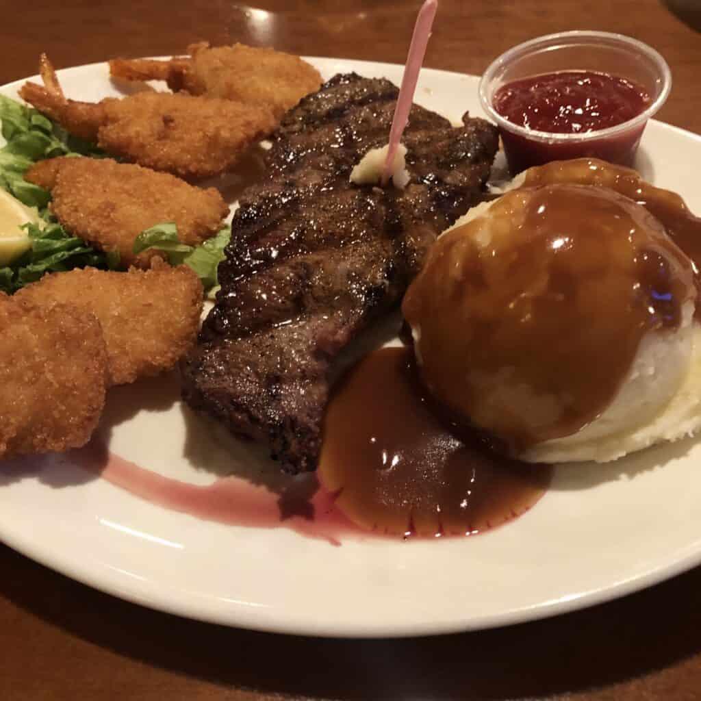 NY Strip Steak at Ellis Island Las Vegas