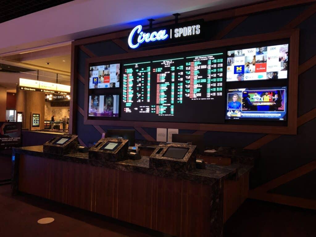 Satellite betting station at Circa