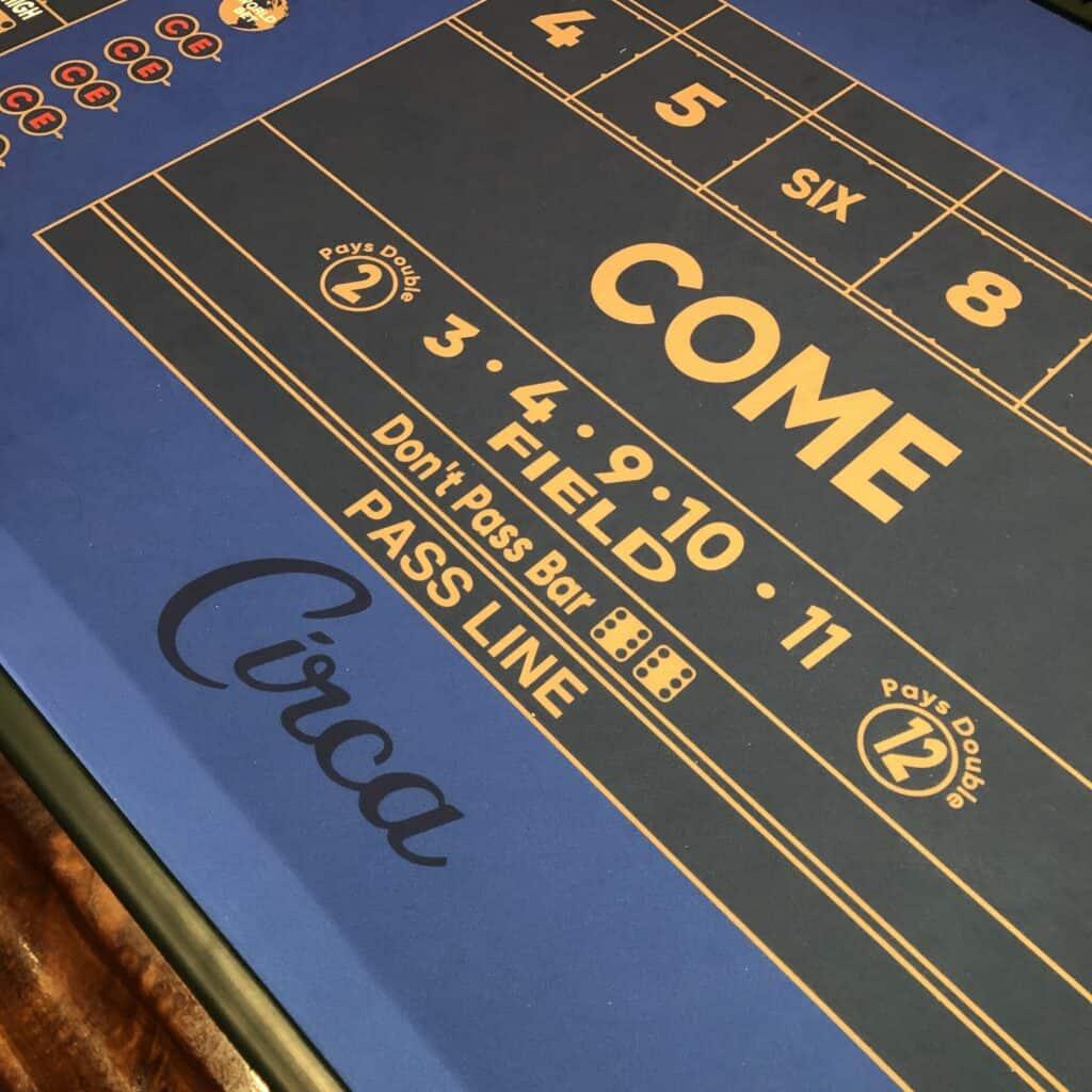 Circa Las Vegas Craps Table Felt