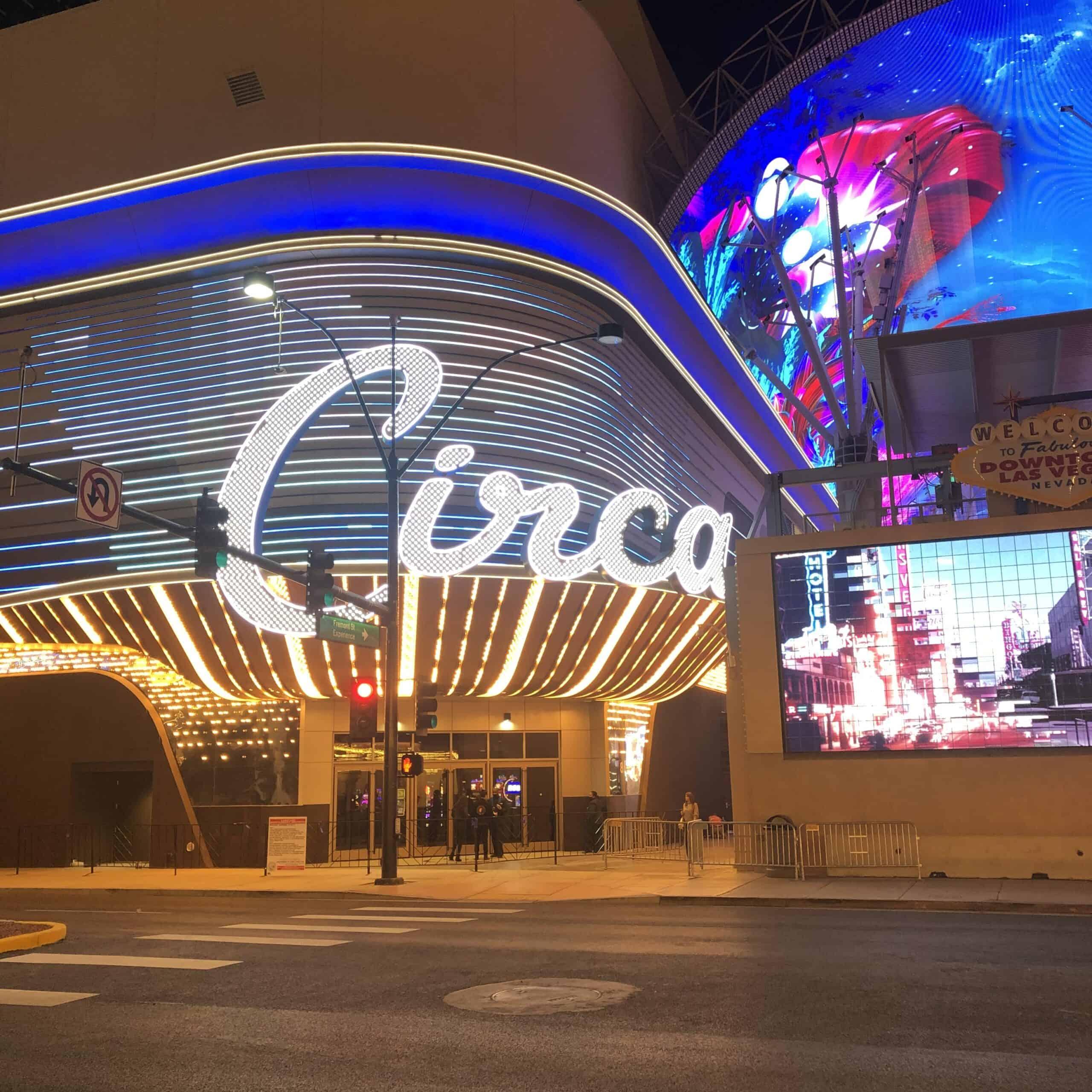 Circa Las Vegas Exterior from Plaza