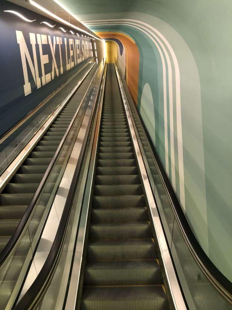 Escalator to Circa's Pool