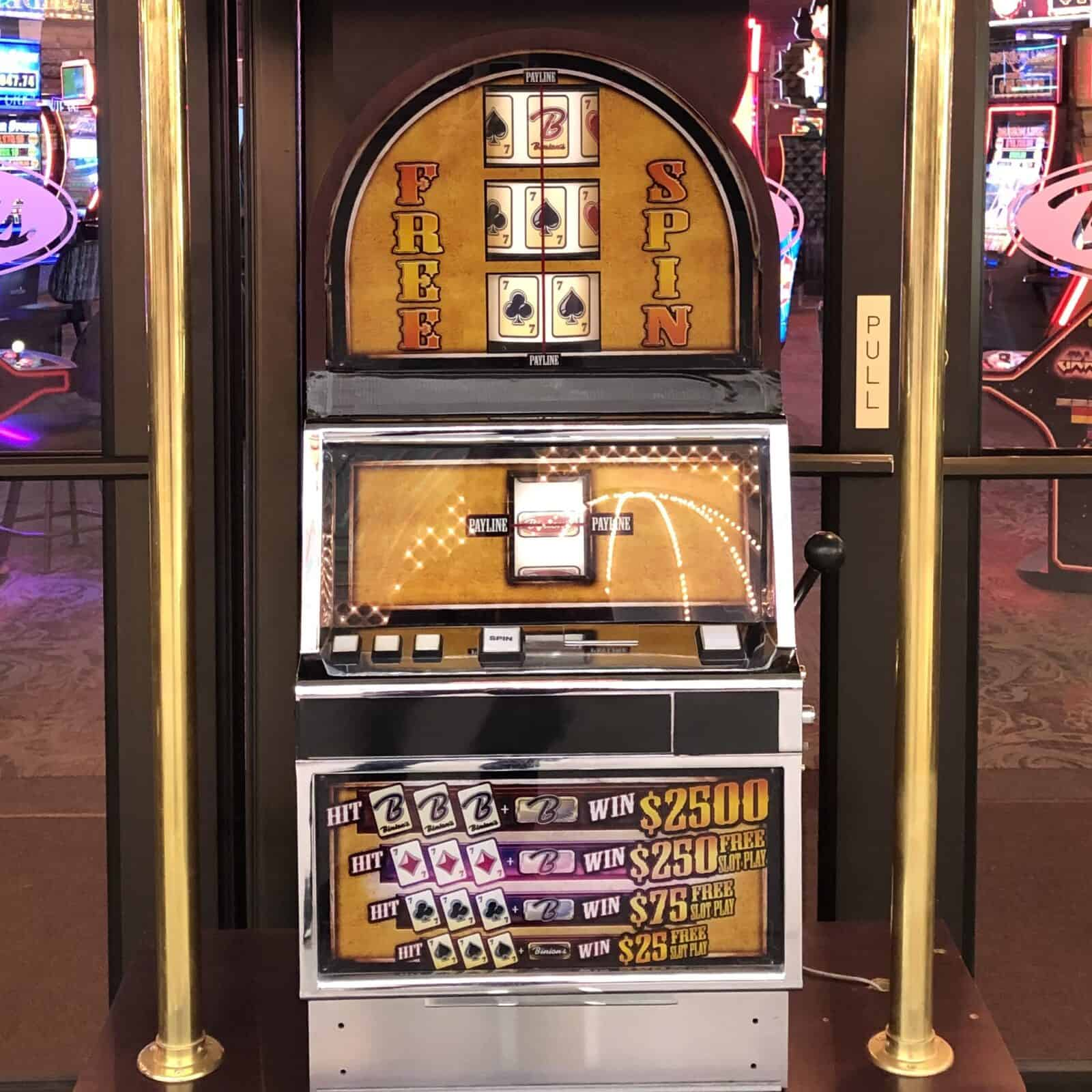 Free Slot Pull at Binion's