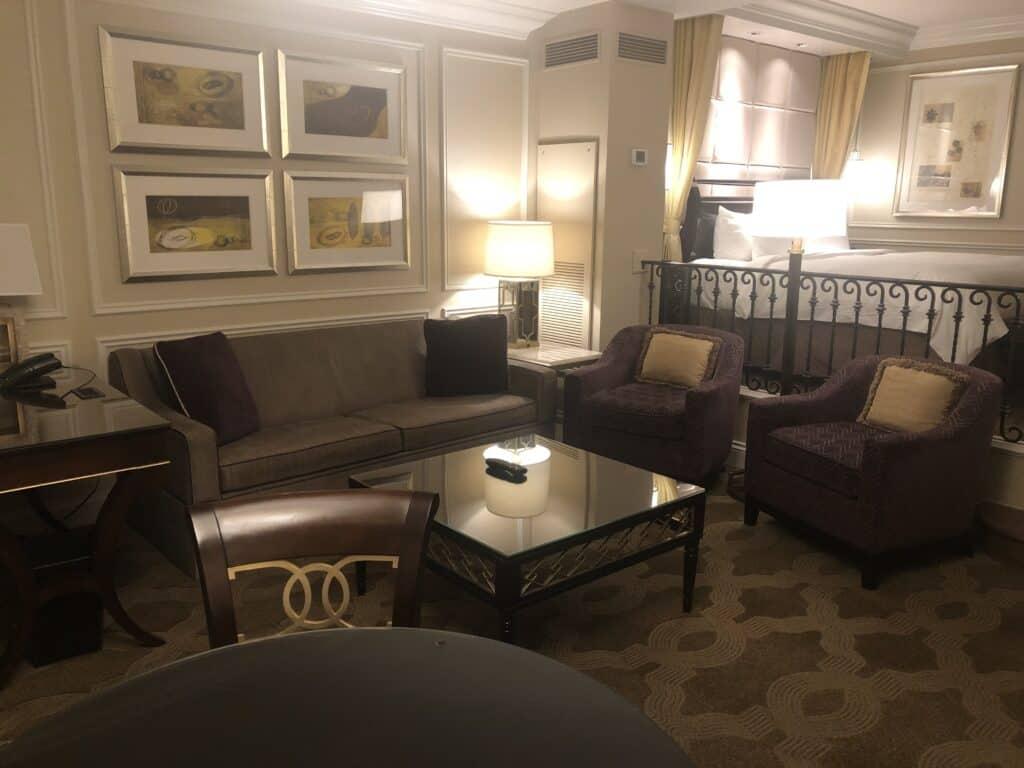 Venetian Luxury Suite Living Area