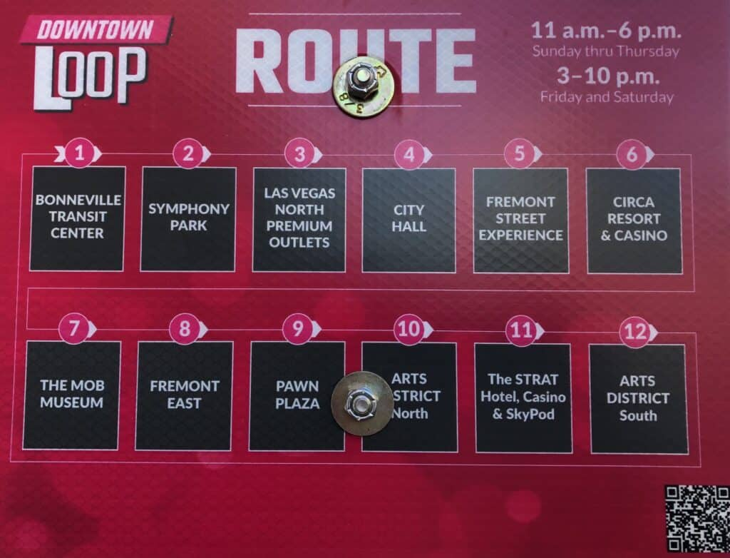 Downtown Loop Route Stops