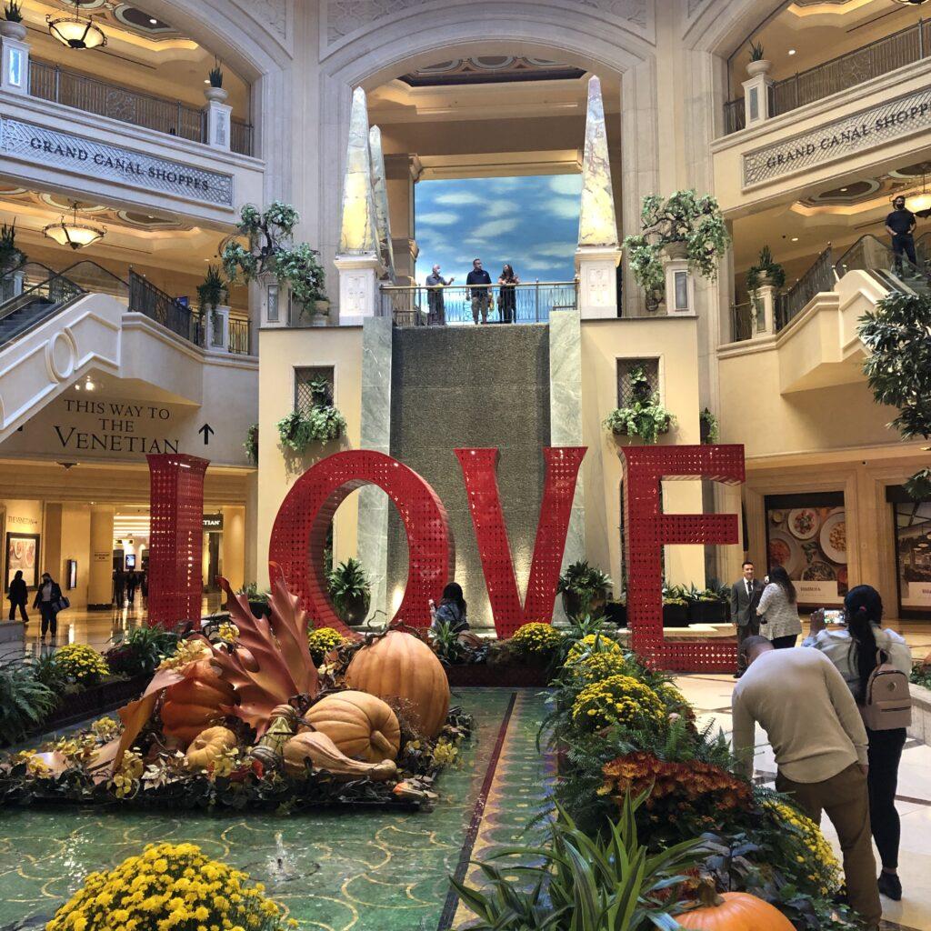 LOVE Photo Opp at Venetian Las Vegas