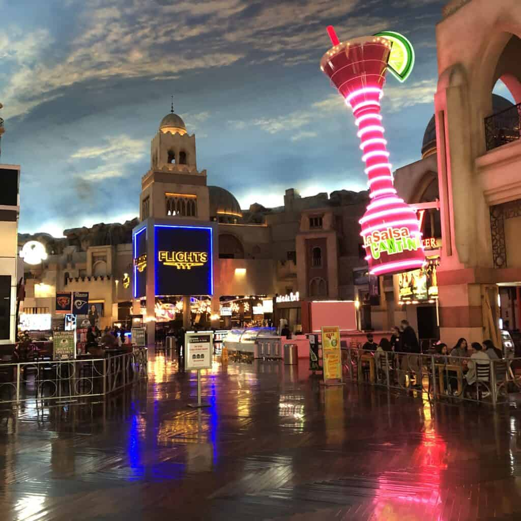 Flights and La Salsa Cantina Miracle Mile Shops in Las Vegas