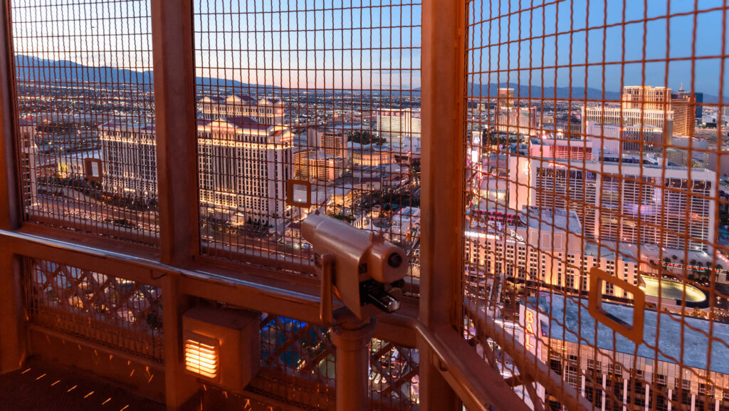 View of Las Vegas from the Eiffel Tower observation deck