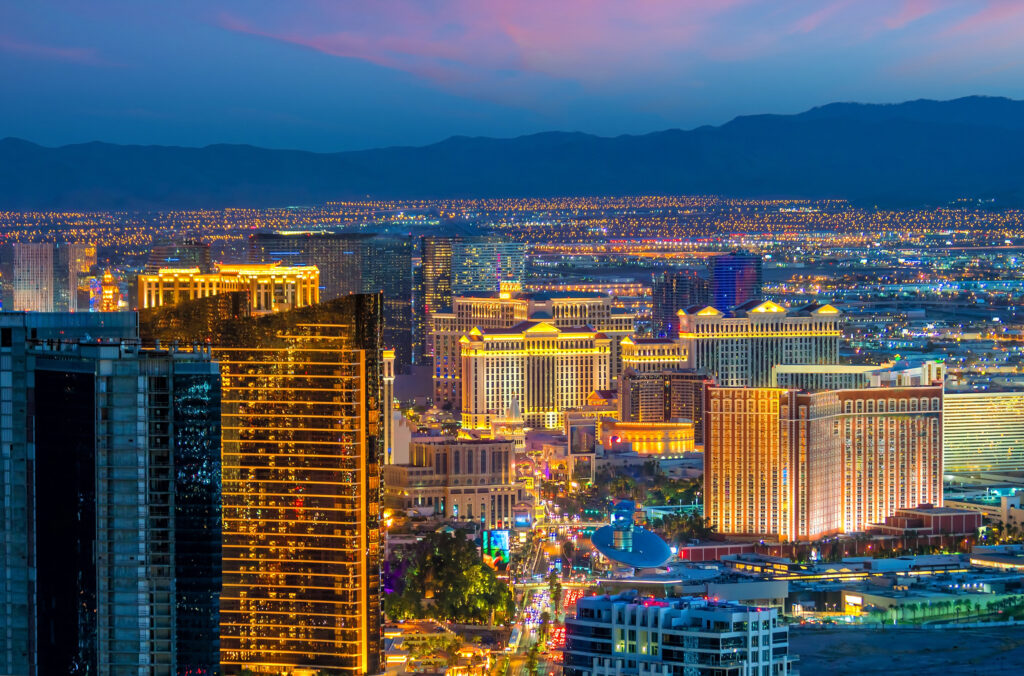 Aerial photo of the Strip