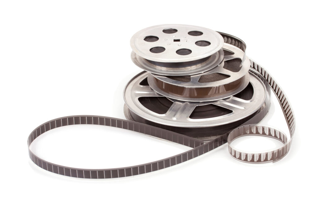 Film reels stacked
