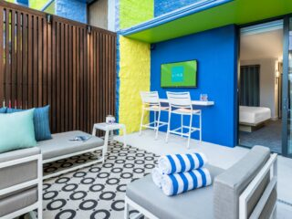 Poolside Hotel Room at Linq