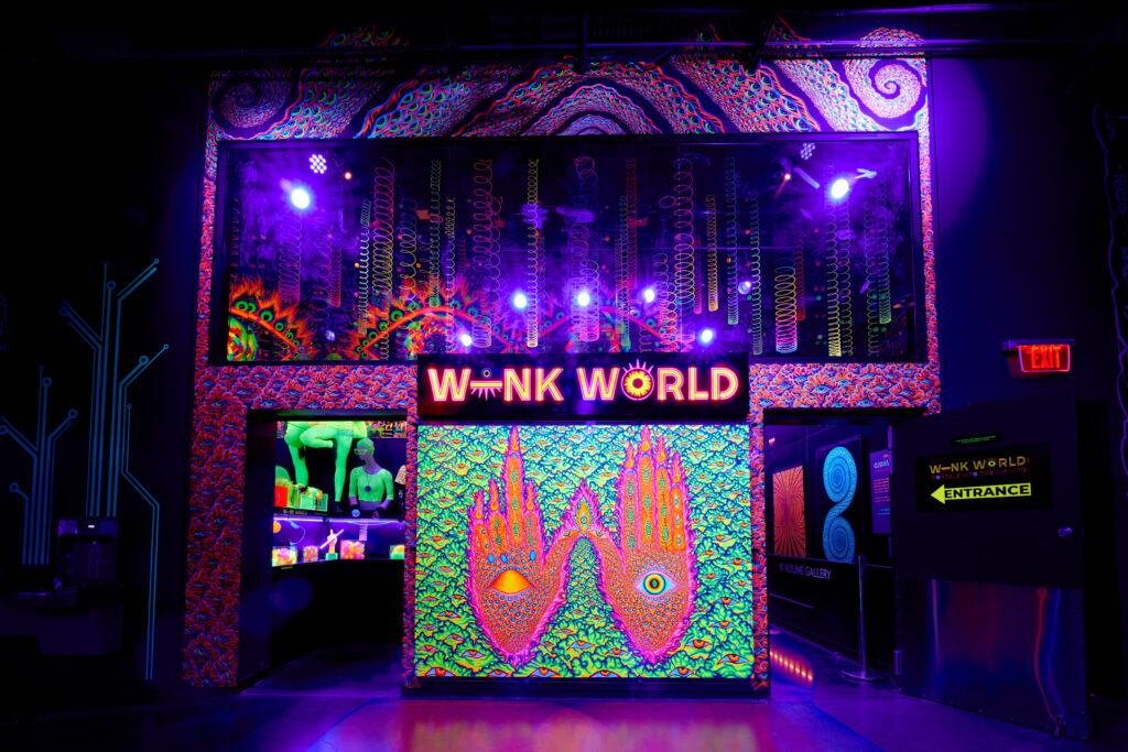 Exterior of Wink World at Area15