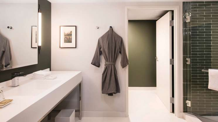 Bathroom in the Nighthawk Suite