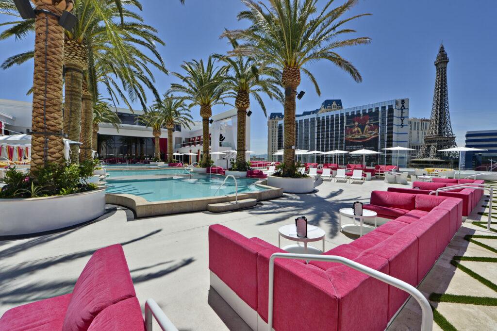 Rooftop pool at Cromwell Las Vegas
