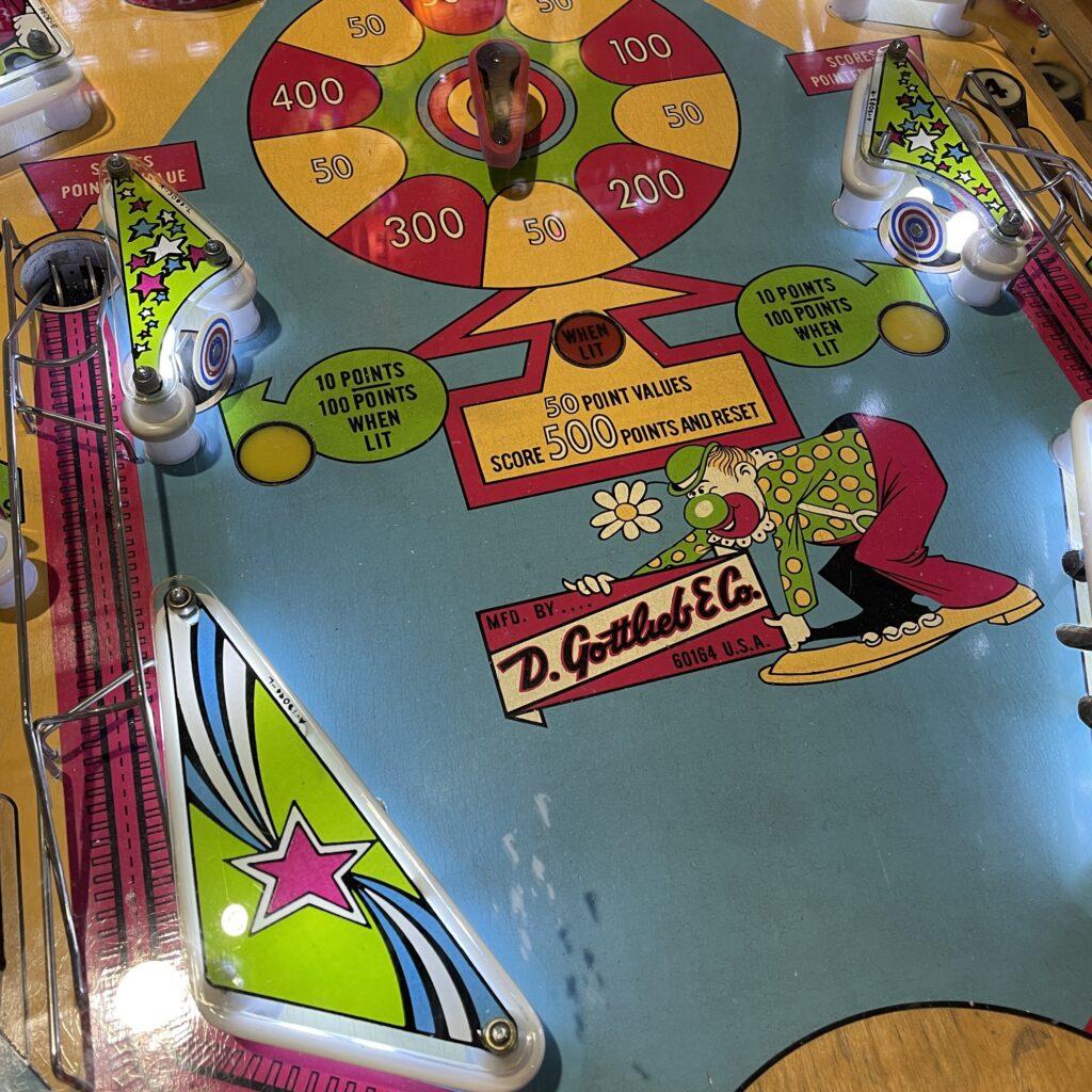 Pinball machine close up image