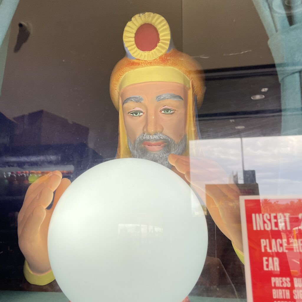 Fortune teller with magic ball