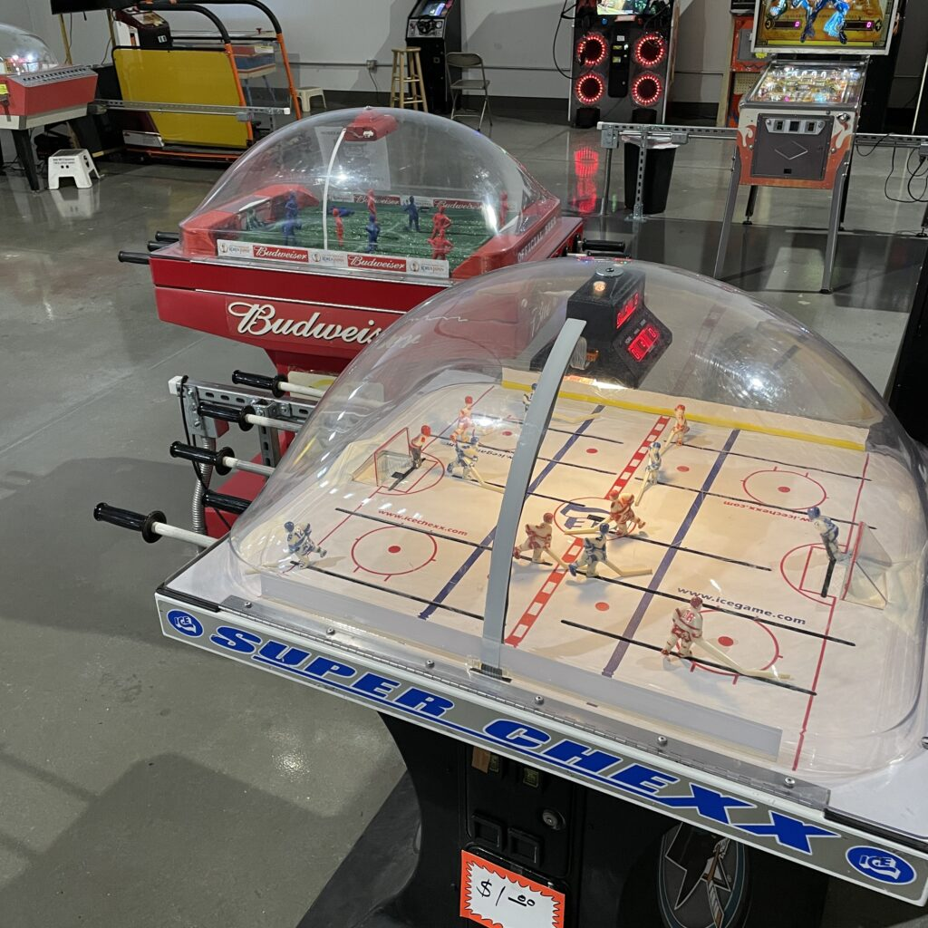 bubble hockey and bubble soccer games