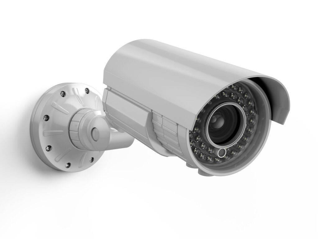 Webcam Camera mounted on the wall
