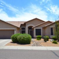 Desert style single family home