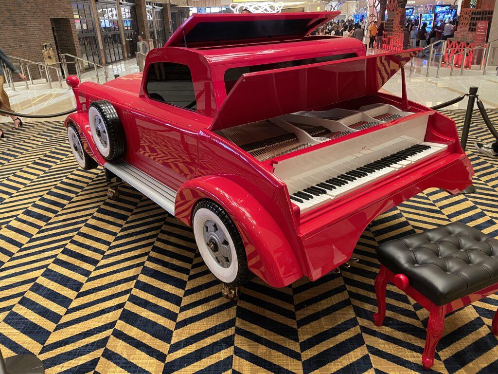 Piano built into a car