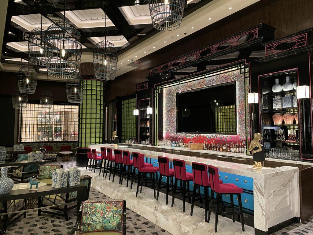 Bar and restaurant seatinng at Genting Palace