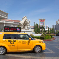 Taxi outside of Caesars Palace