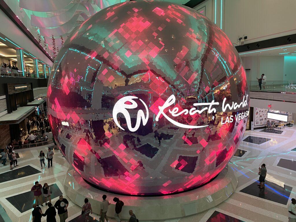 Resorts Worlds illuminated orb