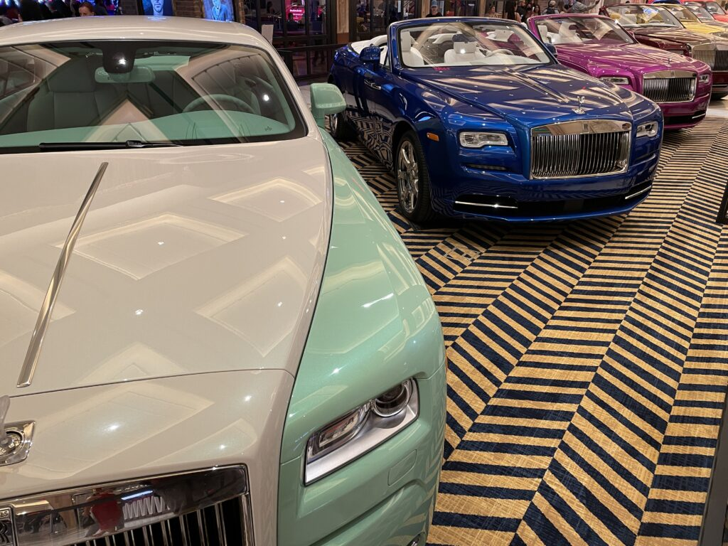 Rolls Royces on Display