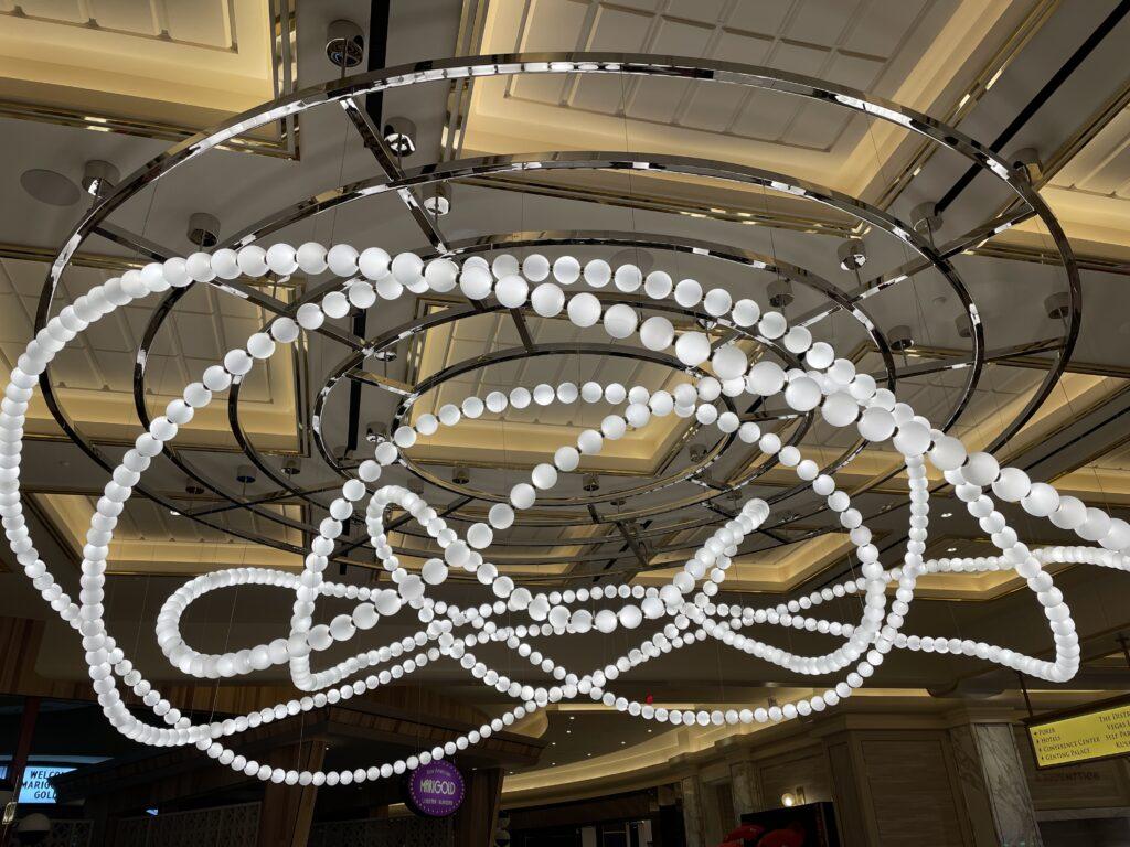 Decorative lighing at Resorts World