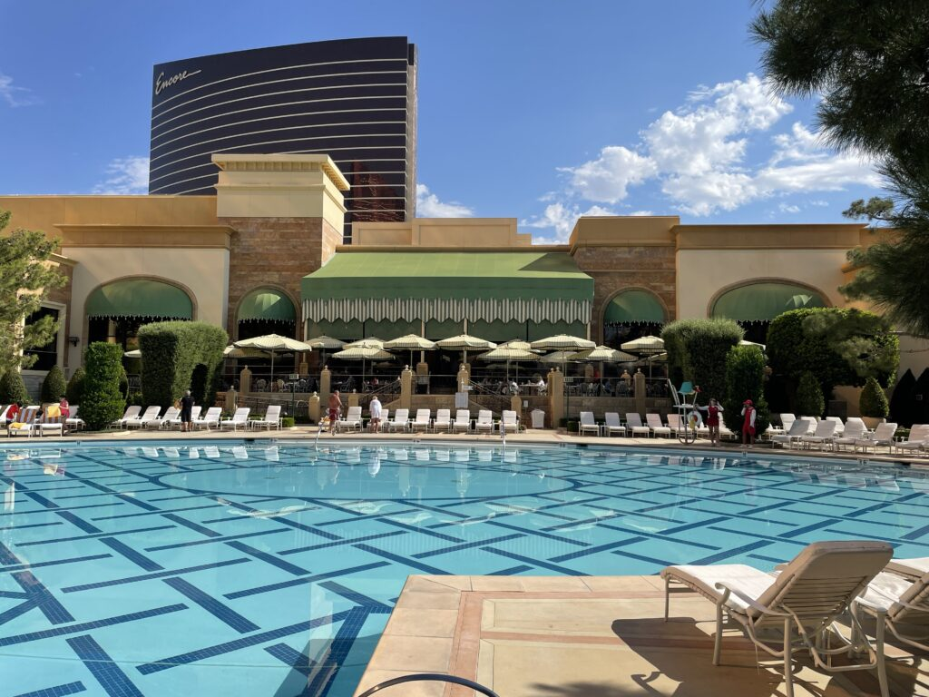 Wynn's pool with Encore in the backbground
