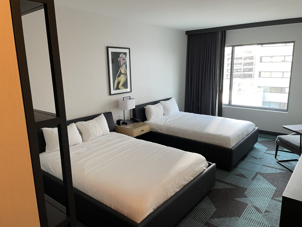 Beds in the Superior Room at Downtown Grand