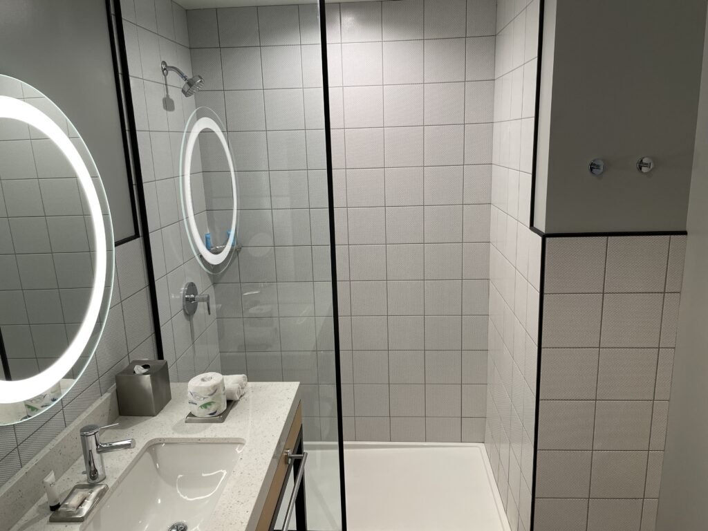 Shower in a Downtown Grand Superior Hotel Room