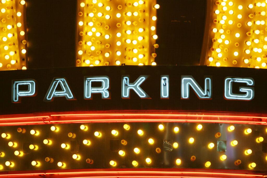 Neon Parking Sign