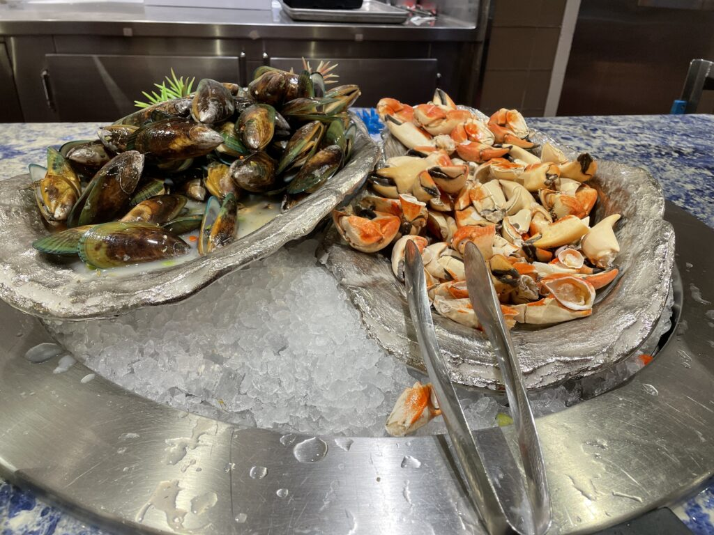 Mussels and Crab Claws
