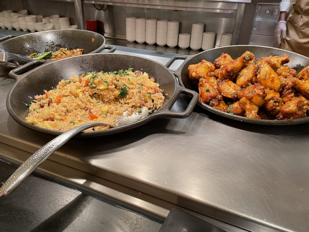 Fried Rice and Thai Chicken Wings