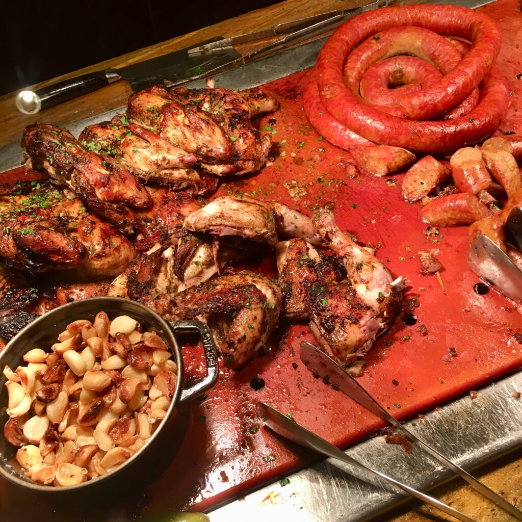 Meat options at Wicked Spoon