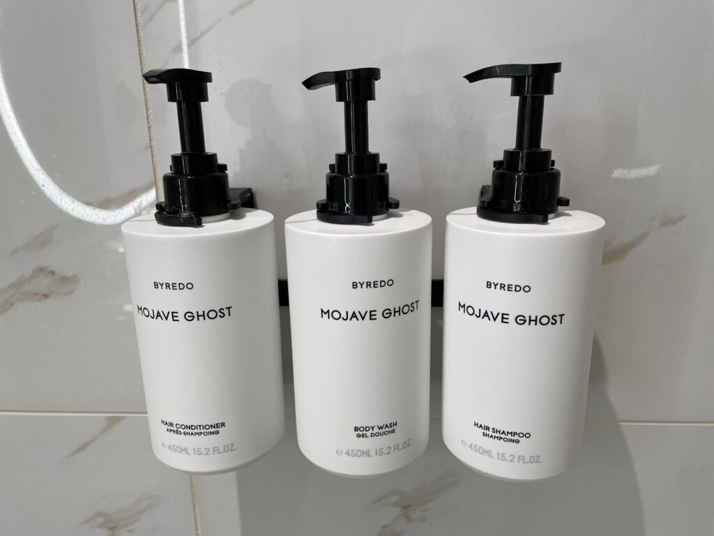 Conrad Bath Products available in the shower