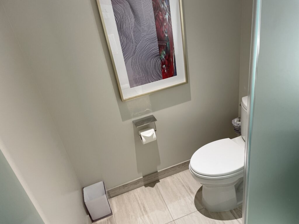 Toilet in the Conrad room at Resorts World