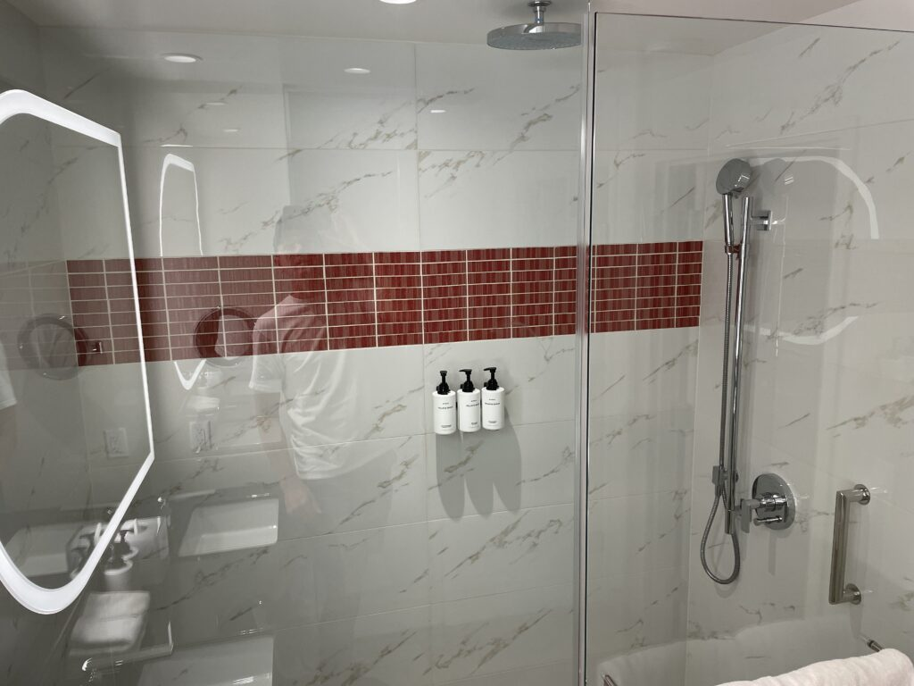 Full Shower in a conrad room Bathroom