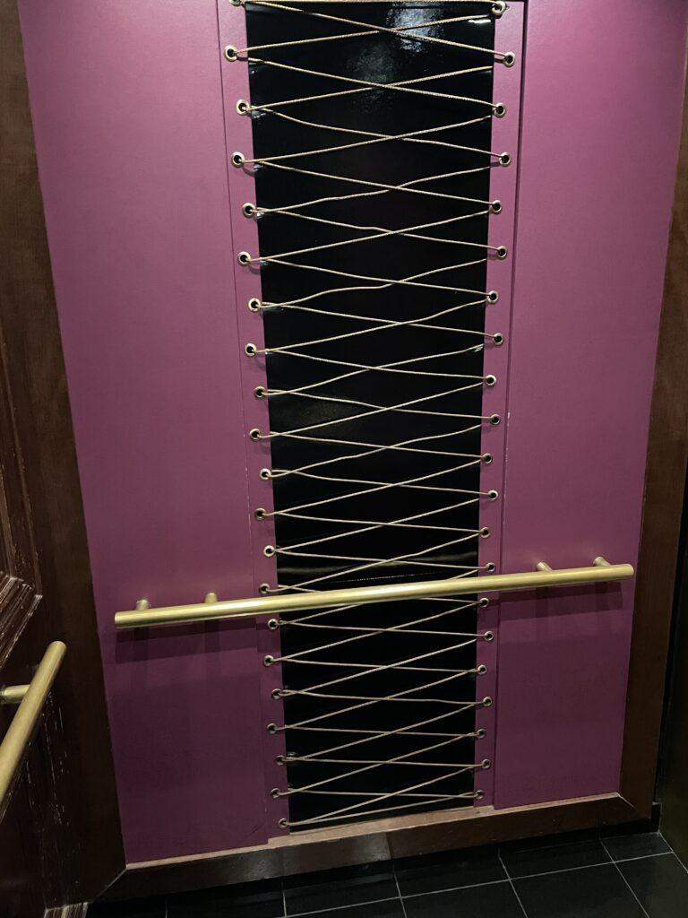 Elevator decor at Cromwell